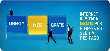 Promoção TIM Liberty Celular Com InternetSala VIP Online