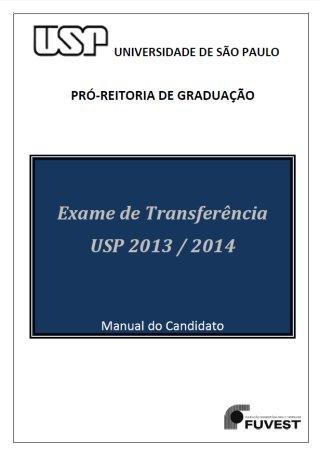 TRANFERÊNCIA USP 2013
