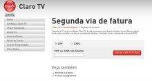 2ª VIA DA CLARO TV